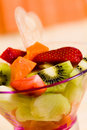 Fruit Salad With Kiwi,strawberry,papaya Royalty Free Stock Photography - 14594387