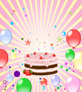 Colorful Background With Cake Royalty Free Stock Images - 14597069