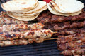 Chicken And Beef Kabobs Stock Images - 1469084
