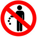 No Littering Sign Royalty Free Stock Photo - 14609055