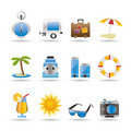 Travel, Holiday And Trip Icons Royalty Free Stock Image - 14609476