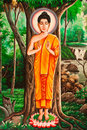 Lord Buddha Thai Painting Stock Images - 14617054