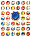 Button Flags Set European Royalty Free Stock Images - 14628519