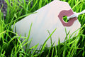 Label And Grass Stock Photos - 14630723