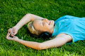 Relaxing Girl Royalty Free Stock Image - 14645546