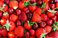 A Pile Of Strawberry And Cherry Royalty Free Stock Photo - 14651325