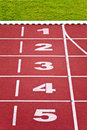 Track Lanes, Numbers Royalty Free Stock Image - 14656166