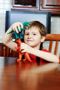 Boy With Toys Royalty Free Stock Photos - 14660578