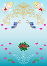 Card. Patterns, Flowers, Hearts, Angels Stock Photo - 14666310