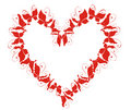 Heart From Flying Butterflies. Vector Illustration Stock Photo - 14669820