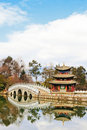 Chinese Pavilion On A Lake Royalty Free Stock Photography - 14678407