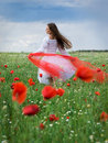 Girl In Field Royalty Free Stock Photography - 14684647