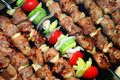Meat And Vegetables Prepares On Fire Stock Photography - 14688112