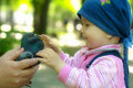 The Child And The Dove Royalty Free Stock Photo - 14694045