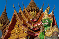 Thai Temple With Giant Royalty Free Stock Photography - 14696537
