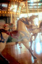 Carousel Horses, Moody, Pastel And Hazy Royalty Free Stock Image - 1475636