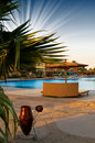 A Hotel Pool Early Morning In Egyptian Resort.. Stock Photography - 14705192
