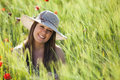 Smiling Girl On Field Royalty Free Stock Photo - 14706285