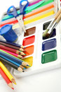 Pencils And Paints Stock Photos - 14707803