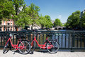 Amsterdam Canal And Bicycles Royalty Free Stock Photos - 14721938