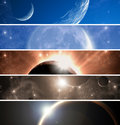 Space Theme Banners Set Royalty Free Stock Photos - 14726108