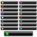Web Buttons Black Glossy Royalty Free Stock Images - 14728499
