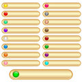 Web Buttons Gold Royalty Free Stock Photo - 14728525