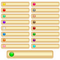 Web Buttons Gold Stock Photography - 14728542