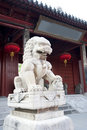 A Stone Lion In China Royalty Free Stock Photo - 14735905