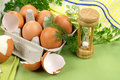 Egg Timer With Eggs Stock Images - 14745884