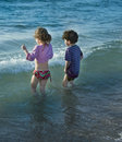 Two Kids At Sea Stock Images - 14754534