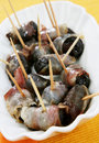 Plums Rolled In Prosciutto Stock Image - 14765131