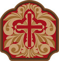 Cross With Engraving Scrollwork Royalty Free Stock Photo - 14781375