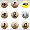 Audio Icons. Stock Photography - 14792352
