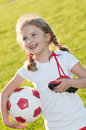Cute Soccer Player Royalty Free Stock Images - 14796109