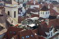 Prague Rooftops Cafe Stock Photography - 1483552