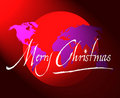 Merry Christmas World Map Or Globe Royalty Free Stock Images - 1489339