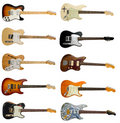 Collection Of Classic Electric Guitars Stock Photos - 14800723