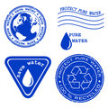 Save Water - Grunge Rubber Stamp Royalty Free Stock Image - 14811316