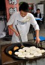 Jun Le, China: Cooking Chinese Pizza Royalty Free Stock Photos - 14821578