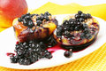 Peaches With Blueberries Stock Photo - 14823230