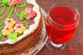 Cake And Home-made Juice Stock Image - 14835901