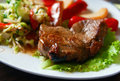 Beef Steak With Vegetables Stock Images - 14850104