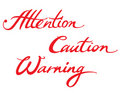 Attention Caution Warning Stock Photography - 14859292