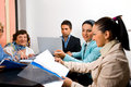 Business People Working At Meeting In Office Stock Photos - 14861033