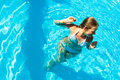 Woman In A Pool Royalty Free Stock Photo - 14876605