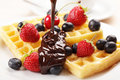 Waffles With Fruits Stock Image - 14881381