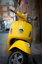 Yellow Scooter Royalty Free Stock Photo - 14885225