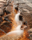 Water Streaming On Rock Royalty Free Stock Images - 14896689