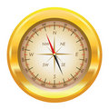 Illustration Of A Gold Compass Stock Image - 14897131